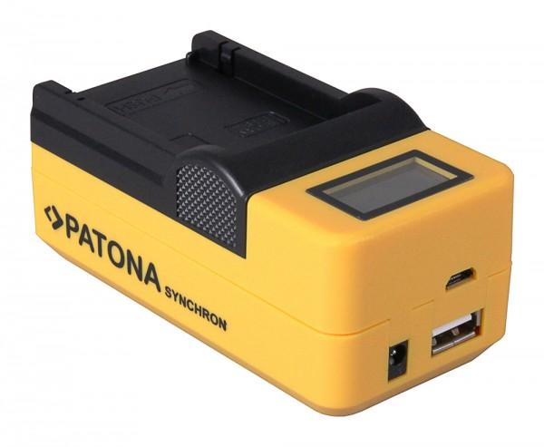 Micro USB Batterioplader med LCD til JVC GZ-HD620